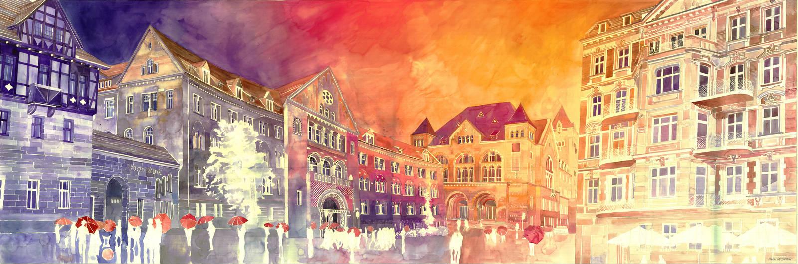 Sunset in Poznan by takmaj