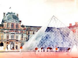 Louvre in September by takmaj