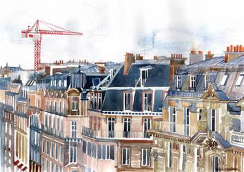 Roofs of Paris by takmaj