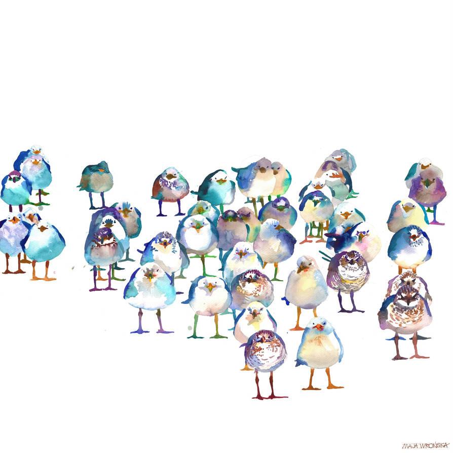 Winter Birds by takmaj