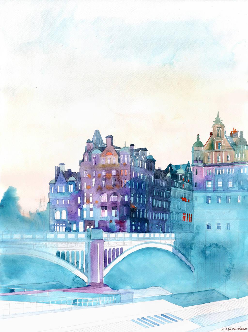 Winter in Edinburgh by takmaj