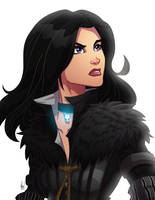 Yennefer of Vengerberg by Paranoidvin