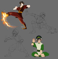 [FA] - Zuko and Toph by Sylthian