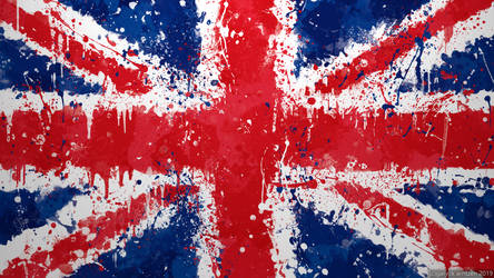 UK Flag Wallpaper  - Union Jack Splatter by GaryckArntzen