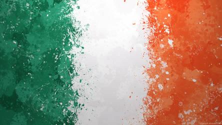 Irish Flag Wallpaper - Grungy Splatter by GaryckArntzen