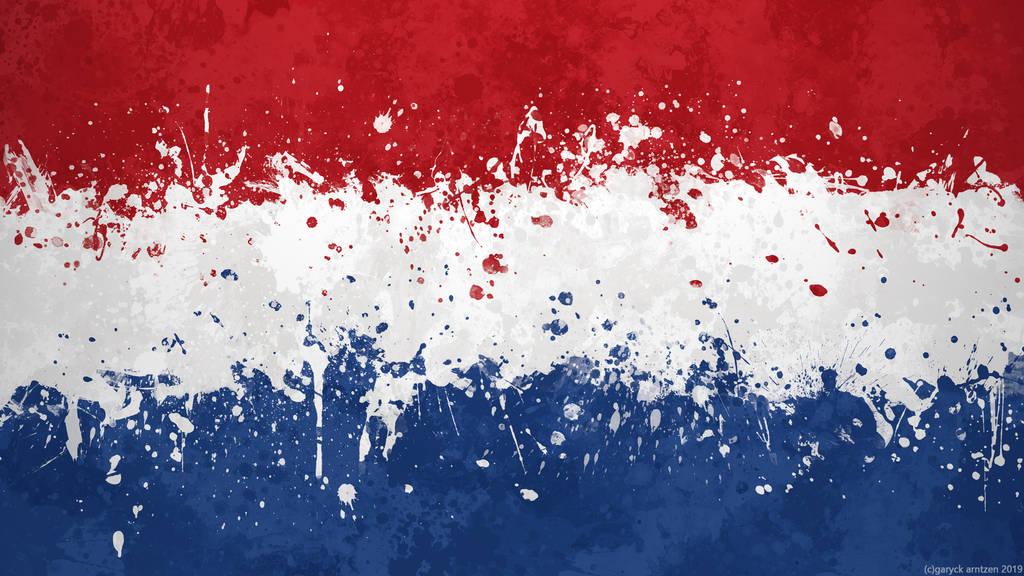 Netherlands Flag Wallpaper Grungy Splatter By Garyckarntzen On