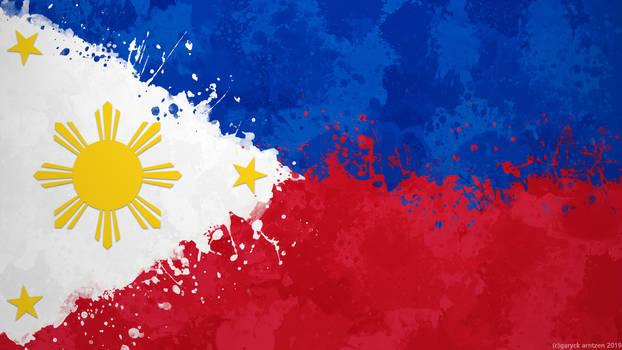 Phillipines Flag Wallpaper - Grungy Splatter by GaryckArntzen