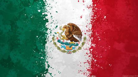 Mexico Flag Wallpaper - Grungy Splatter by GaryckArntzen