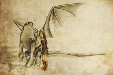 Toothless and me by carpenoctem410
