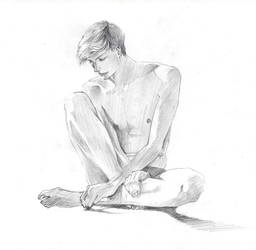 Figure study, sketch by reya-desu