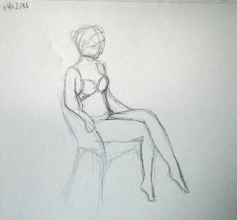 Woman sitting (sketch)