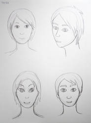 Sketches: faces #33 by lunejaune145