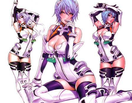 Rei Ayanami Shunya Wallpaper by Stex85