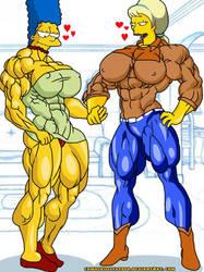 Marge vs Lurleen!!! by camuskilller1904