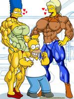 Lucky Homer!!! by camuskilller1904