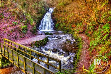 Glenoe Waterfall by rosscaughers