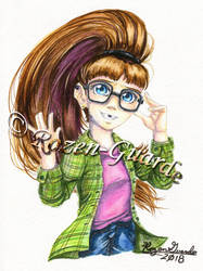 Nerdy Amanda_Commission by Rozen-Guarde