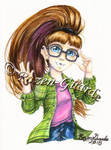 Nerdy Amanda_Commission by Rozen-Guarde
