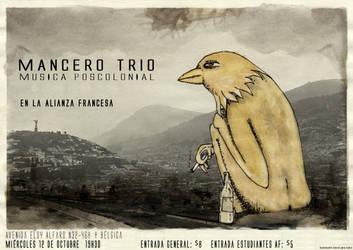 mancero trio (afiche) by guambra-caremono