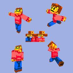 Minecraft Mr.Wallet by ZombieToaster