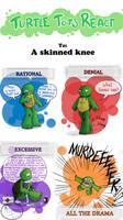 Turtle Tots React - Skinned knee by Myrling