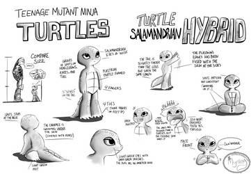 TMNT - Turtle Salamandrian Hybrid (concept Art ) by Myrling