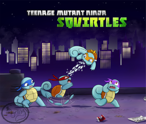 Teenage Mutant Ninja Squirtles by Myrling