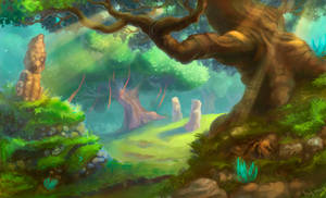 forest by lowly-owly