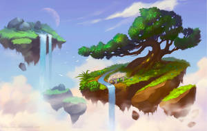 Floating Islands by lowly-owly