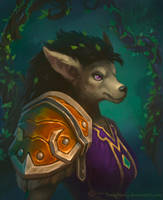Commission: Worgen Druid by lowly-owly
