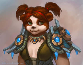 Pandaren shaman by lowly-owly