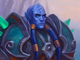 Commission: Nurius, Draenei Mage by lowly-owly
