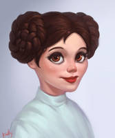 Leia Organa by lowly-owly