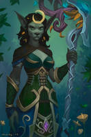 Worgen Druid Commission by lowly-owly