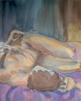 Watercolor I - Nude by WatermelonLove