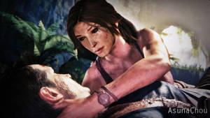 Cross Over - Lara Croft and Nathan Drake (17) by AsunaChou