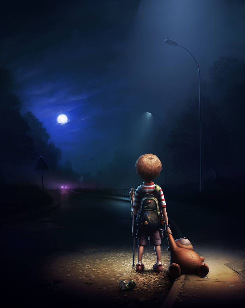Night road by I-Gorda