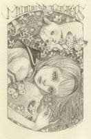 2014 exlibris for the bar moon flowers by musubunakai