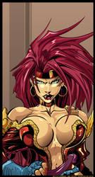 Red Monika Vector Fanart by smashmethod