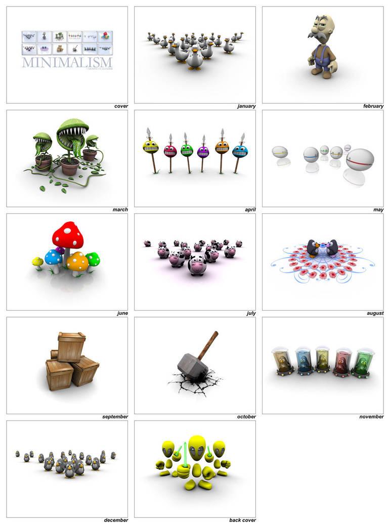 Minimalism Calendar by smashmethod