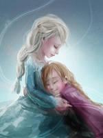 Elsa and Anna by cennie