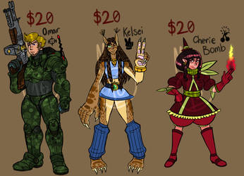 Adoptables #1 by tora44
