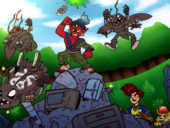 Kamibimon was a Junkyard Dawg (DigimonArcanaQUEST) by tora44