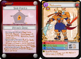 Digimon Arcana Armor Mitsuzomon (WIP) by tora44