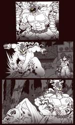 Knightmon's Day Off! Davanasmon's Rampage by tora44