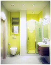 Green Bathroom toon pic by Dryui