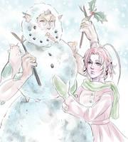 Snowman+-- by MyDearBasil