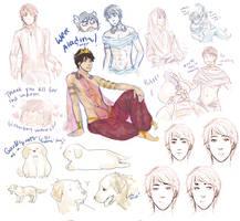 Aladdin doodles! by MyDearBasil