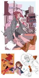 More Ochako doodlez by MyDearBasil