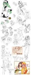 Pokemon Sketch Dump by cartoongirl7